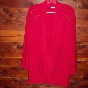 Holiday Christmas Bling top Plus Size by Cato